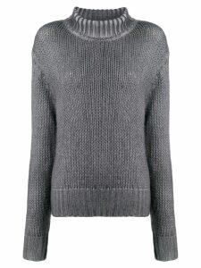 Aragona rollneck knit sweater - Grey