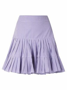 Andrea Bogosian check Paris ruffle skirt - Blue