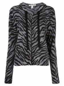 Autumn Cashmere fine knit hoodie - Grey