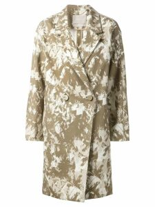 Jason Wu printed oversize coat - Green