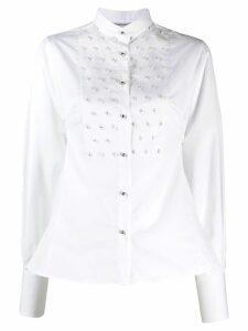 Ermanno Scervino embellished slim-fit shirt - White