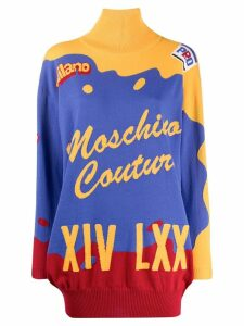 Moschino short intarsia knitted dress - Blue