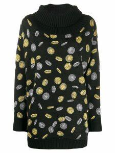 Moschino coin intarsia jumper - Black