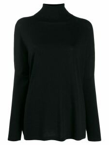 Allude ribbed roll neck jumper - Black
