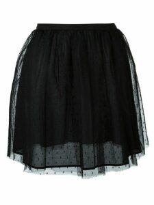 Red Valentino tulle mini skirt - Black