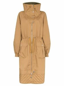 Ganni oversized military parka - Brown