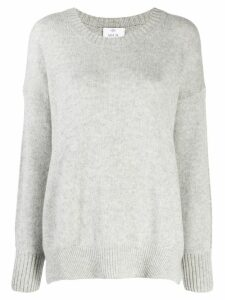 Allude curved hem jumper - Grey