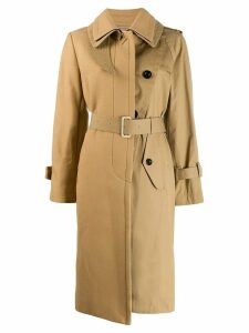 Sacai belted trench coat - NEUTRALS