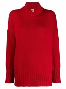 Massimo Alba roll-neck jumper - Red