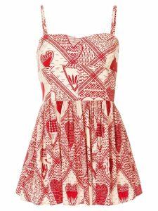 Red Valentino printed poplin dress - Neutrals