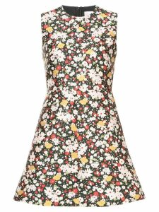 Red Valentino floral print dress - Black