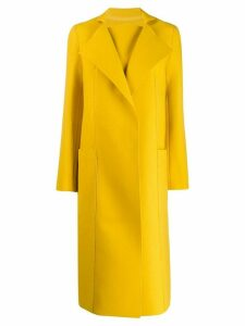 Maison Rabih Kayrouz concealed front fastening coat - Yellow