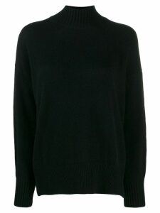 Allude ribbed turtle neck jumper - Black
