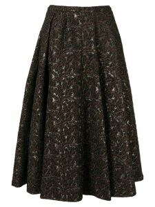 Rochas flared patterned skirt - Black