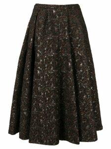 Rochas flared patterned skirt - Black