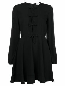 Red Valentino multiple front tie dress - Black