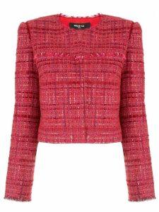 Paule Ka bouclé tweed blazer - Red