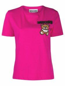 Moschino beaded teddy bear T-shirt - Pink
