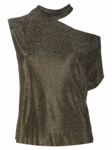 RtA cold-shoulder asymmetric top - Gold