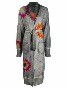 Avant Toi tie-dye print coat - Grey