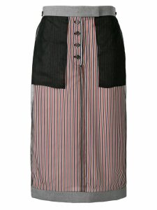 Thom Browne Exposed School Uniform Sack Skirt - Blue