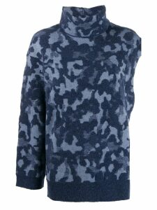 Ports 1961 asymmetric camouflage jumper - Blue