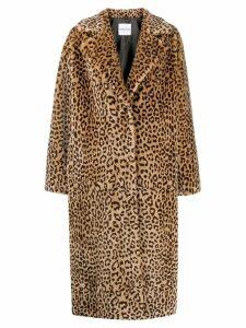 STAND STUDIO leopard print coat - Neutrals