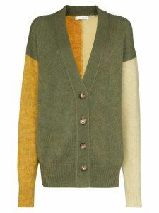 Rejina Pyo V-neck colour block cardigan - Green
