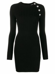Balmain buttoned body-con mini dress - Black