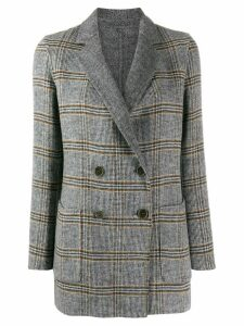 Twin-Set double check print coat - Grey