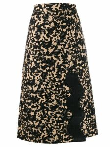 Ports 1961 patterned A-line skirt - Black