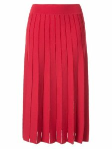 Casasola pleated knit skirt - Red