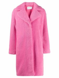 STAND STUDIO concealed front fastening coat - Pink
