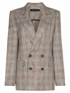 Roland Mouret Salvatore checked blazer - Pink