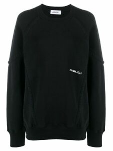 Ambush wide piping sweatshirt - Black