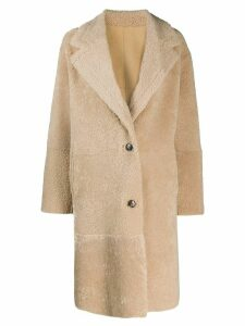 Iro reversible single-breasted coat - Neutrals