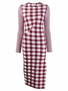 Ports 1961 checked knit dress - Red