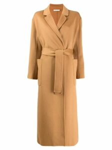Stefano Mortari belted mid-length coat - Brown