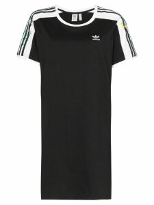 adidas Three Stripe logo T-shirt mini dress - Black