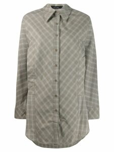 Low Classic long checked shirt - Green