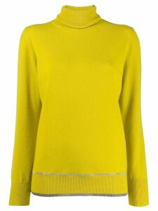 Fabiana Filippi roll-neck fitted sweater - Yellow