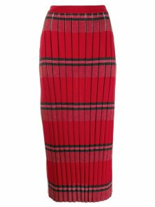 Marni ribbed wool skirt - Red