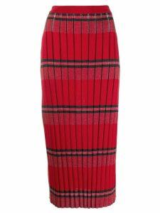 Marni ribbed wool skirt - Red