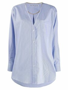 Alexander Wang chain detail shirt - Blue