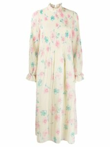 Ganni floral smock dress - Yellow