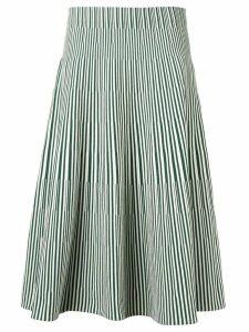 Cédric Charlier striped A-line skirt - Green