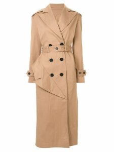 Ruban belted trench coat - Brown