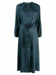 Indress straight fit midi dress - Blue