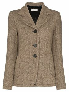 Wales Bonner tweed single-breasted blazer - Grey
