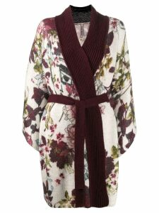Antonio Marras knitted kimono style card-coat - White